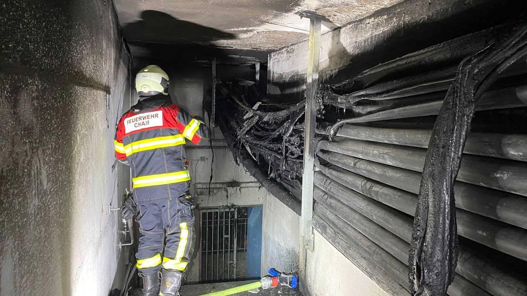 Brand an einem Kabelkanal – technische Ursache ausgeschlossen