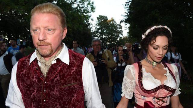 Bild vom Oktoberfest aus gemeinsamen Zeiten: Boris Becker und Ehefrau Lilly.