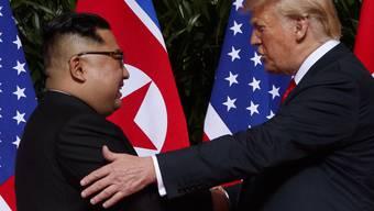 """Laut Nordkoreas Machthaber der Beginn einer """"bedeutsamen Reise"""": Kim Jong Un und US-Präsident Donald Trump. (Archiv)"""