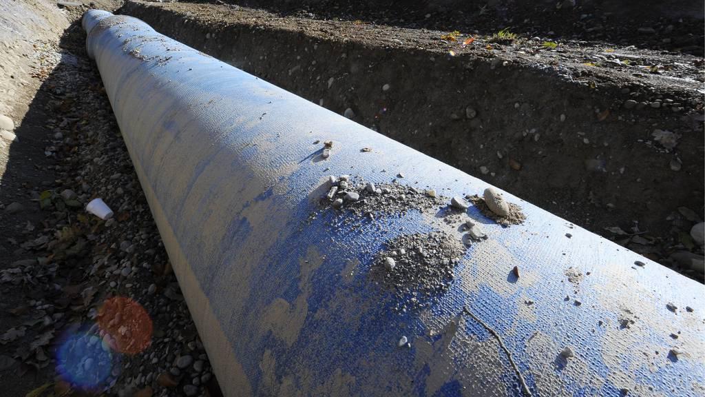 Trinkwasserleitung in Hochdorf geborsten