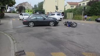 Verkehrsunfall Allschwil Motorrad
