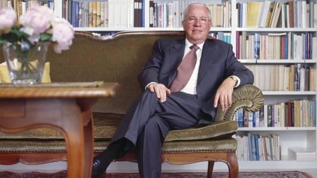 Christoph Blocher in seinem Heim in Herrliberg (Archiv)