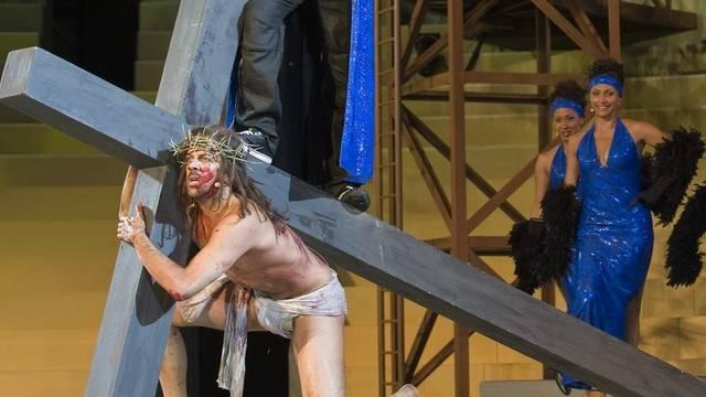 """Aufnahme einer Szene aus dem Musical """"Jesus Christ Superstar"""" in Thun (Symbolbild)"""