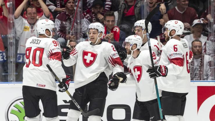 Schweizer Torjubel - an Eishockey-Titelkämpfen keine Seltenheit mehr wie früher