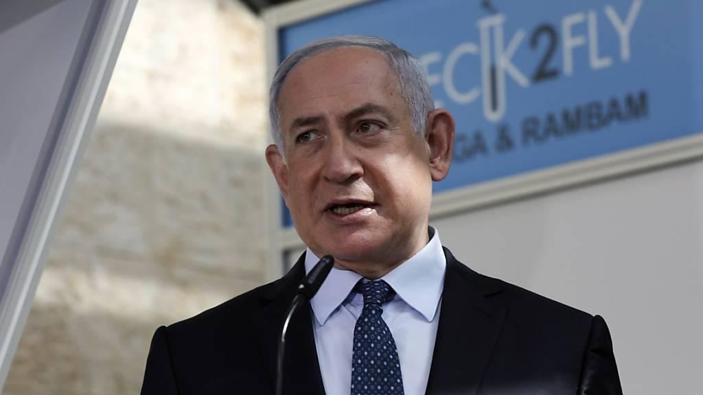 Netanjahu begrüsst Reisende aus Emiraten