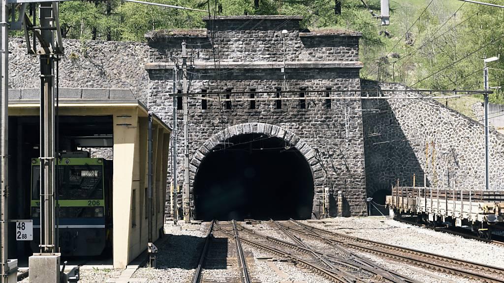 Portal des Lötschberg-Scheiteltunnels, der nun nicht so umfangreich saniert wird, wie ursprünglich geplant.