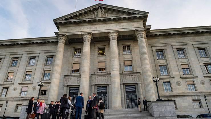 Blick auf das Bundesgericht in Lausanne. Bild: Keystone/Jean-Christophe Bott