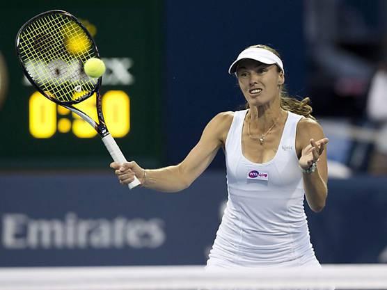 Seit neustem wieder auf dem Court: Martina Hingis in Toronto.