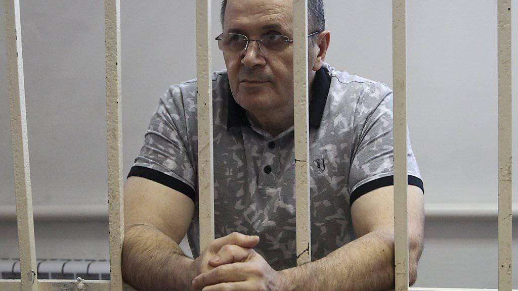 Selbst ein Opfer willkürlicher russischer Justiz: Vaclav-Havel-Preisträger Ojub Titijew im Gefängnis in Tschetschenien (Aufnahme vom 28. September 2018).
