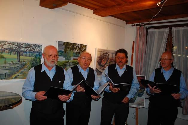 Das «Oberkulmer Singquadrat» mit Peter Kaspar, Fritz Burkhard, Hans Georg Schulz und Thomas Müller, v.l.