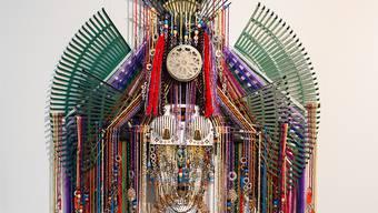 Anne Samat: «Tribal Chief Series 10», 2017. Gesehen an der Volta 13, Galerie Richard Koh, Kuala Lumpur. Preis: 15'000 Fr.