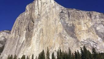 """In zwei Stunden, einer Minute und 53 Sekunden bezwungen: Die Steilwand """"El Capitan"""" im Yosemite-Tal."""