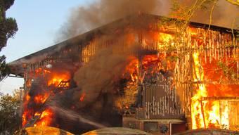 Grossbrand auf dem Rütihof in Gränichen