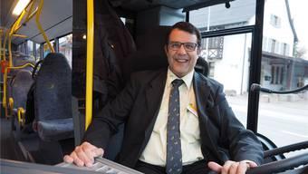 «Es kommt zum Glück fast nie vor, dass ich einen Halt vergesse»: Roger Fricker, 48, fährt seit 26 Jahren auf der Benkenlinie. Der SVP-Politiker ist zudem Gemeindeammann von Oberhof.