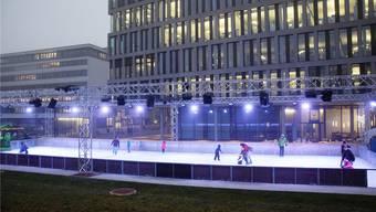 Im vergangenen Winter wurde der «Campus Ice Dream» zum ersten Mal durchgeführt – und stiess gleich auf reges Interesse. mhu/Archiv az