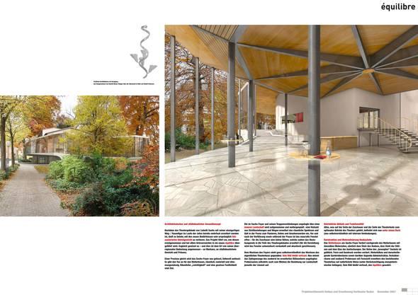 Das Umbauprojekt Equilibre sieht eine leichte Veränderung am Sachs-Foyer vor. Ein Streitpunkt zwischen der Stadt Baden und dem Kanton.