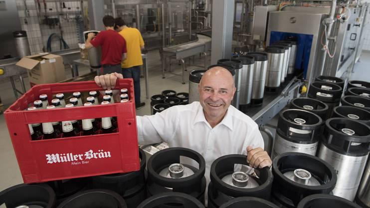 Die Badener Brauerei Müllerbräu Baden wird für die ganze Getränkelogistik verantwortlich sein.