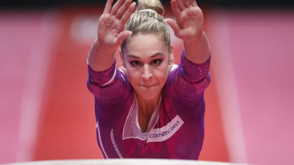 Medaille im Visier: Giulia steht an den WM im Sprung- und Bodenfinal