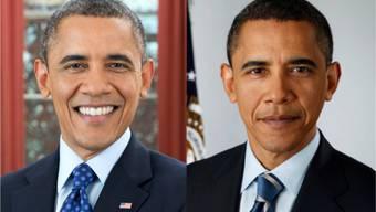 Wie die Zeit vergeht: Die Obamas heute und vor vier Jahren