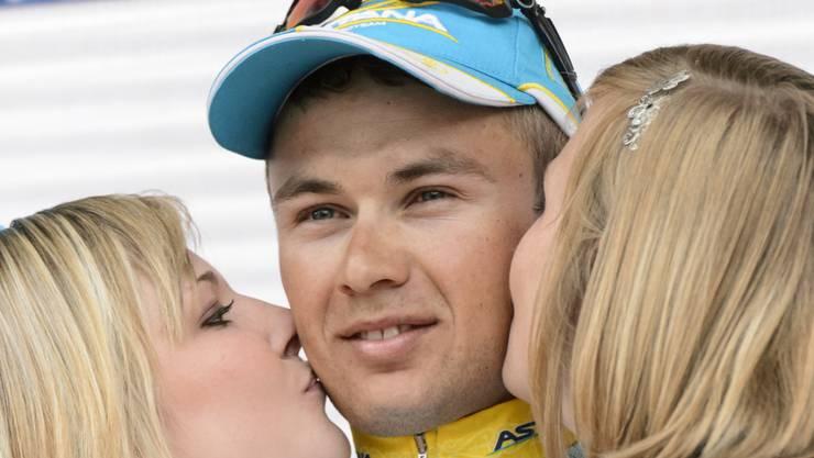 Alexej Luzenko - hier bei der Siegerehrung letztes Jahr im Rahmen der Tour de Suisse in Bern - gab eine weitere Talentprobe ab.