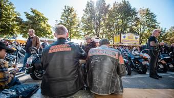 Die Harley-Piloten schwitzten am 29. September in ihren Lederjacken.
