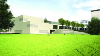 Das Siegerprojekt für die neue Turnhalle Hinterbächli in Oberrohrdorf.