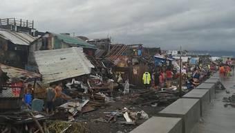 """Durch den Taifun """"Kammuri"""" sind auf den Philippinen mehrere Menschen ums Leben gekommen; zudem entstanden grosse Schäden."""