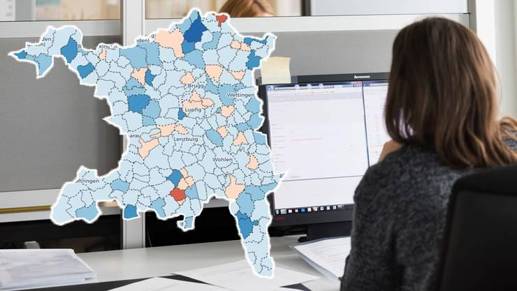 186 Aargauer Gemeinden haben letztes Jahr einen Gewinn eingefahren.