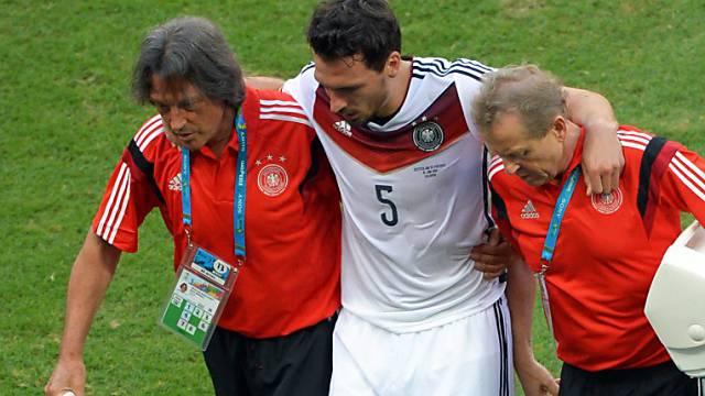 Mats Hummels musste gegen Portugal verletzt vom Platz
