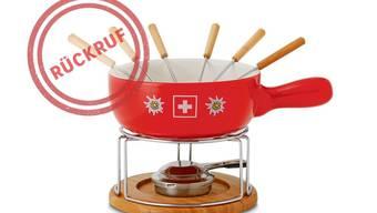 Vorsicht: Dieses Caquelon des Käsefondue-Sets Style'n Cook könnte bei grosser Hitze brechen.