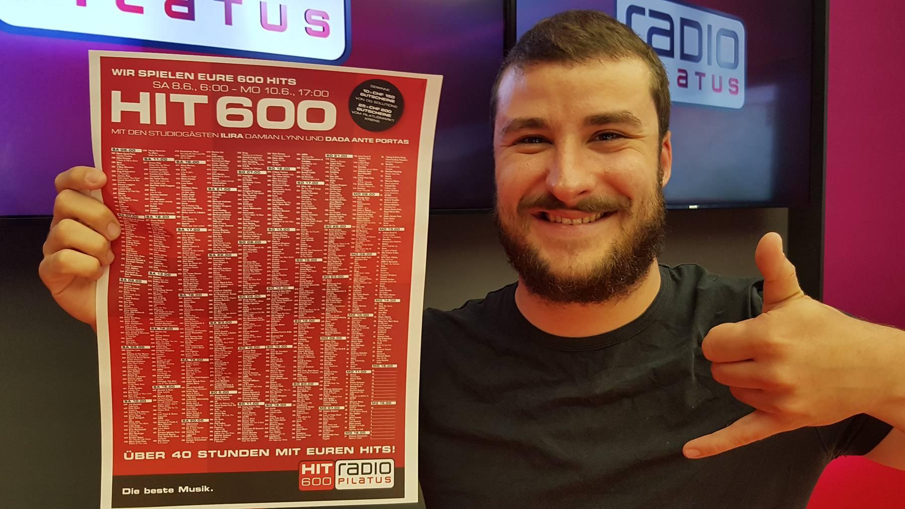 Hit 600: Der Countdown mit deinen Songs ist da