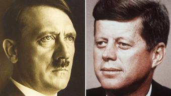 Zwei Beispiele von starker Abhängigkeit von Drogen bzw. Medikamenten: Adolf Hitler und John F. Kennedy.