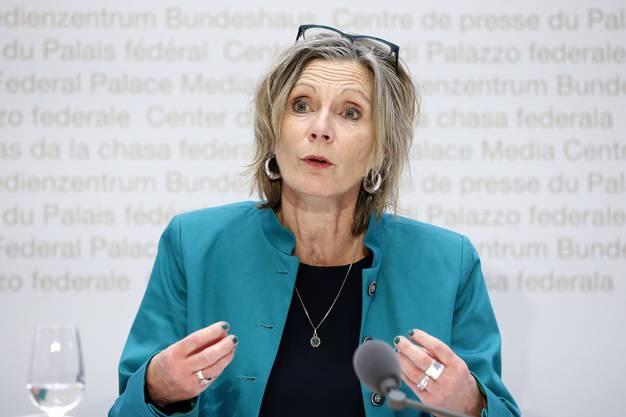 Politikerin Maya Graf gibt den Schweizer Sportlerinnen Support für ihre Anliegen.