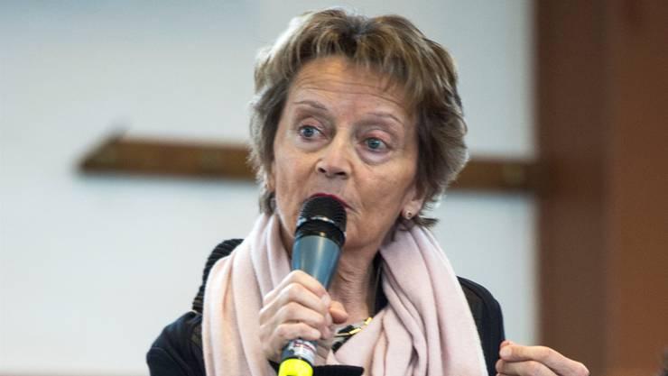 Die ehemalige Finanzministerin an der BDP-Delegiertenversammlung in Ursins VD Mitte Januar. key