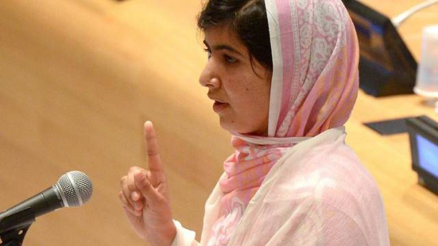 Malala Yousafzai vor den Vereinten Nationen in New York