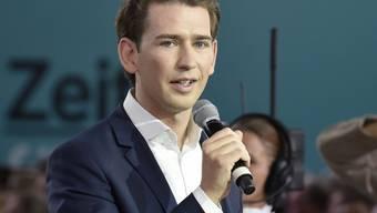 Sebastian Kurz anlässlich einer Wahl zum Bundesparteiobmann der ÖVP im Rahmen eines Bundesparteitages der ÖVP am Samstag in Linz.