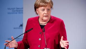 Angela Merkel spricht am Samstag an der Münchner Sicherheitskonferenz.