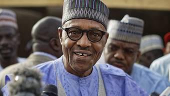 Seit 2015 an der Macht und nun wiedergewählt: Nigerias Staatschef Muhammadu Buhari. (Archivbild)