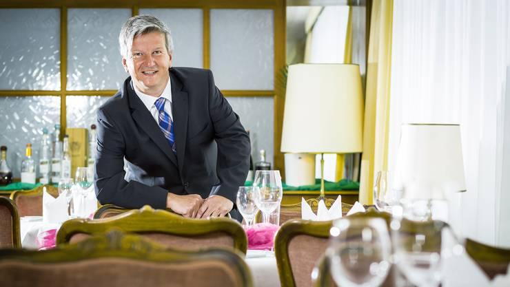 Bild aus guten Zeiten: Gastro-Aargau-Präsident Bruno Lustenberger in der «Krone» in Aarburg.