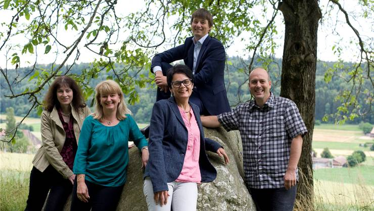 V.l. Rosanna Pedrotti, Doris Heinimann, Susanne Zuber, Jeffrey Melliger und Stefan Hänni.