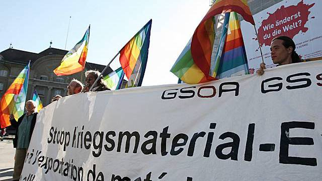 Demo bei der Einreichung der Initiative