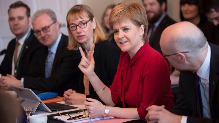 Nicola Sturgeon, Ministerpräsidentin Schottlands, möchte auf jeden Fall eine zweite Abstimmung vor dem endgültigen Brexit. James Glossop/Reuters