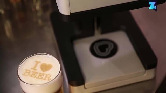 Mit diesem Drucker kannst du dein Bier verschönern