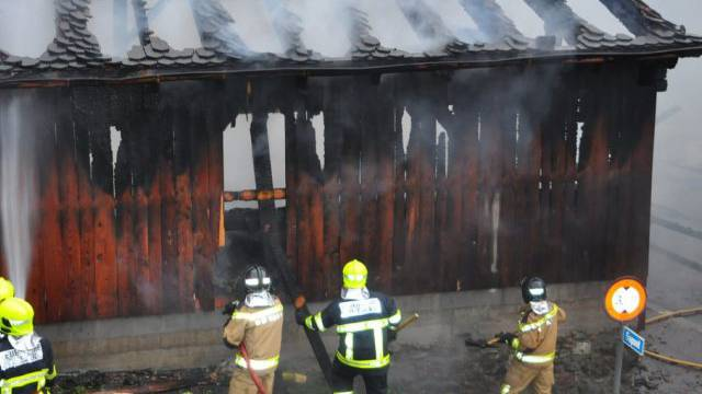 Feuerwehreinsatz in Triesen (Bild: Landespolizei Liechtenstein)
