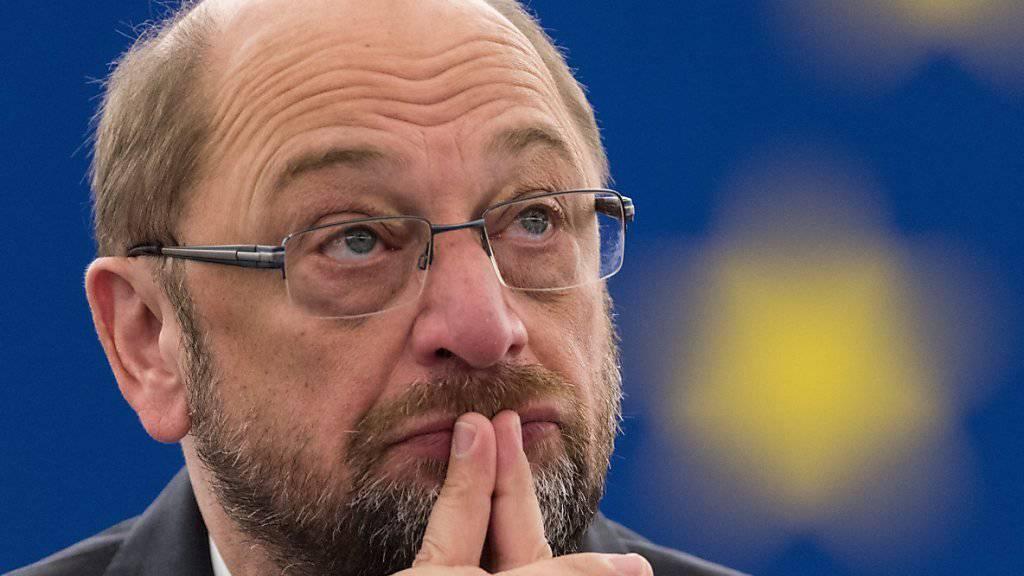 """""""Über Massnahmen nachdenken"""": EU-Parlamentspräsident Schulz blickt mit Sorge auf die Entwicklungen in der Türkei. (Archivbild)"""