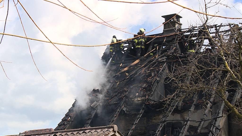 Abtwil: Bauernhaus nach Brand unbewohnbar