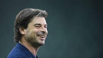 Ciriaco Sforza ist zufrieden, obwohl er sportlich mit seinem FCB noch nicht sonderlich überzeugt hat.