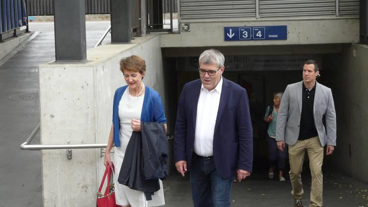 Simonetta Sommaruga und Eric Nussbaumer.