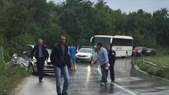 Autounfall in Kosovo