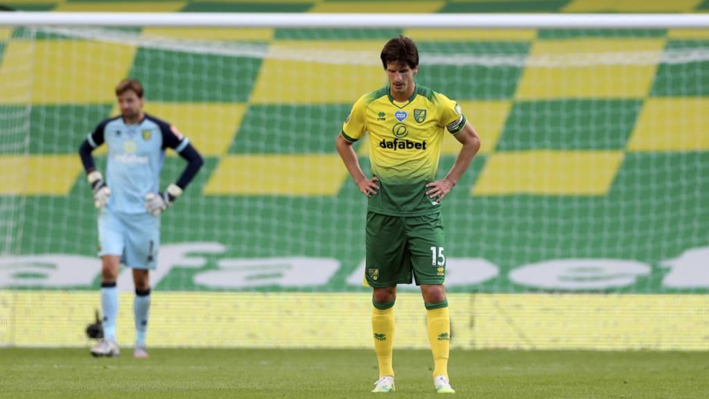Kein Glück: Timm Klose verliert bei seinem Comeback mit Schlusslicht Norwich City